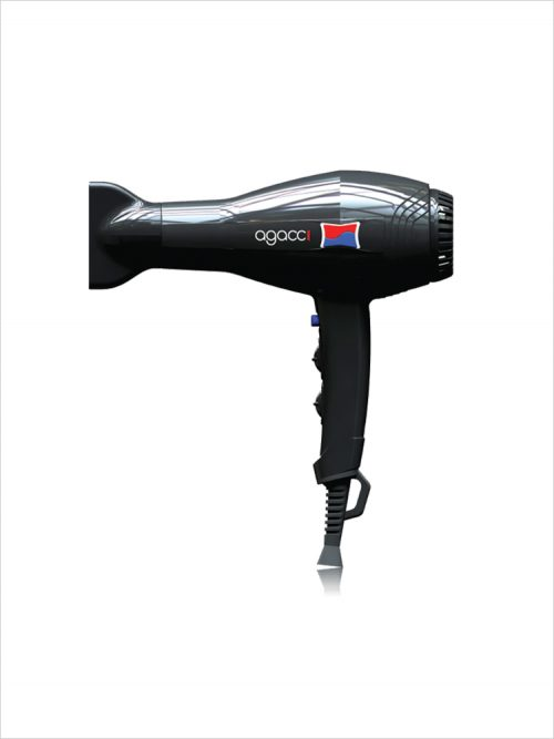 Agacci D2000 Lightweight Hair Dryer – Black - H2pro Beautylife